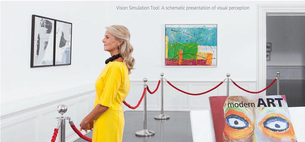 Symulacja widzenia soczewka wieloogniskowa